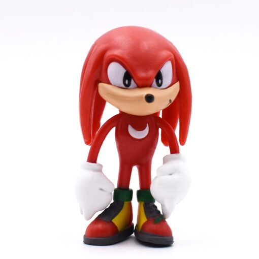 6pcs set 7cm Sonic Figures Toy PVC Toy Sonic Shadow Tails Characters Figure toy Free Shipping 5