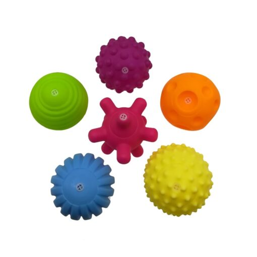 6pcs set Baby Toy Ball Set Develop Baby s Tactile Senses Toy Touch Hand Ball Toys 1