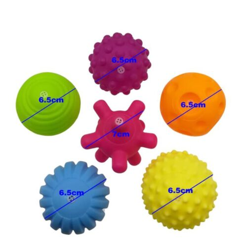 6pcs set Baby Toy Ball Set Develop Baby s Tactile Senses Toy Touch Hand Ball Toys 2