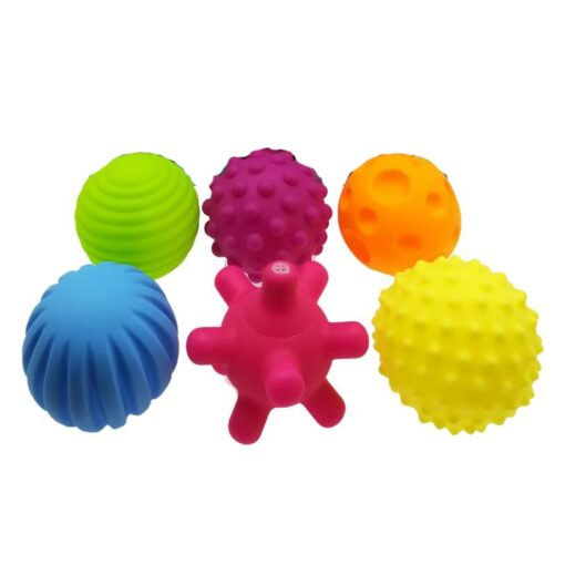 6pcs set Baby Toy Ball Set Develop Baby s Tactile Senses Toy Touch Hand Ball Toys 3