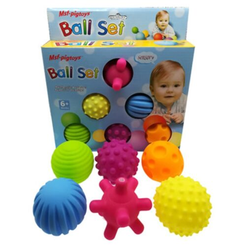 6pcs set Baby Toy Ball Set Develop Baby s Tactile Senses Toy Touch Hand Ball Toys