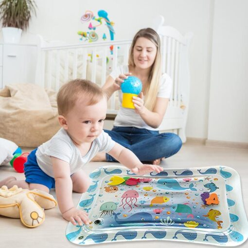 70CM Baby Kid Water Play Mat Inflatable Thicken PVC Infants Gym Playmat for Children Summer Swimming 2