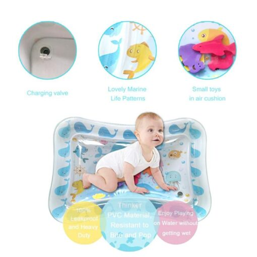 70CM Baby Kid Water Play Mat Inflatable Thicken PVC Infants Gym Playmat for Children Summer Swimming 4