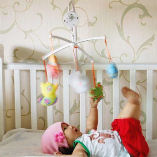 72cm Baby Bed Hanging Rattles Toys Hanger DIY Hanging Baby Crib Mobile Bed Bell Toy Holder 3