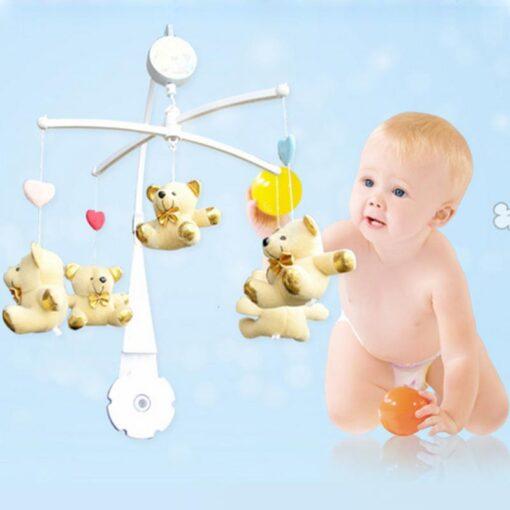 72cm Baby Bed Hanging Rattles Toys Hanger DIY Hanging Baby Crib Mobile Bed Bell Toy Holder 4