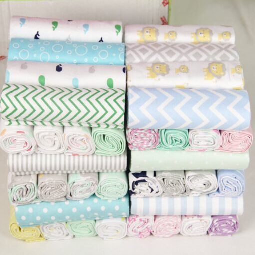 76 76 4Pcs Lot Muslin Cotton Flannel Baby Swaddles Soft Newborn Blankets Baby Diapers Baby Swaddle 1