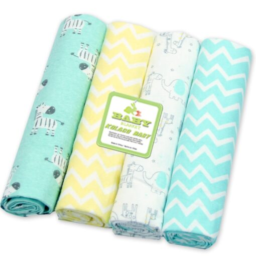 76 76 4Pcs Lot Muslin Cotton Flannel Baby Swaddles Soft Newborn Blankets Baby Diapers Baby Swaddle 3