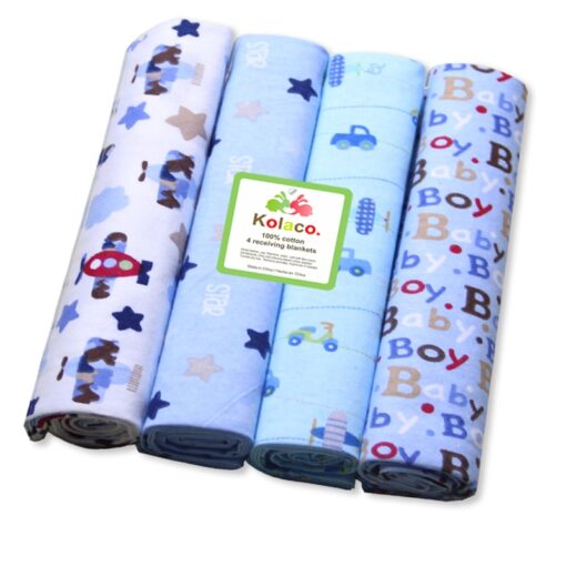 76 76 4Pcs Lot Muslin Cotton Flannel Baby Swaddles Soft Newborn Blankets Baby Diapers Baby Swaddle 4
