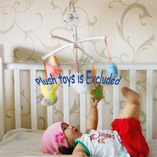 8 5cm Baby Toys Rotary Baby Mobile Crib Bed Toy Clockwork Movement Mobile Windup Bell Autorotation 1