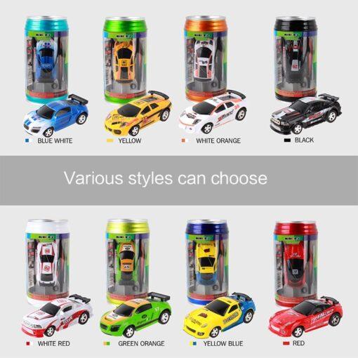 8 Colors 20KM H Coke Can Mini RC Car Radio Remote Control Micro Racing Car 4 3