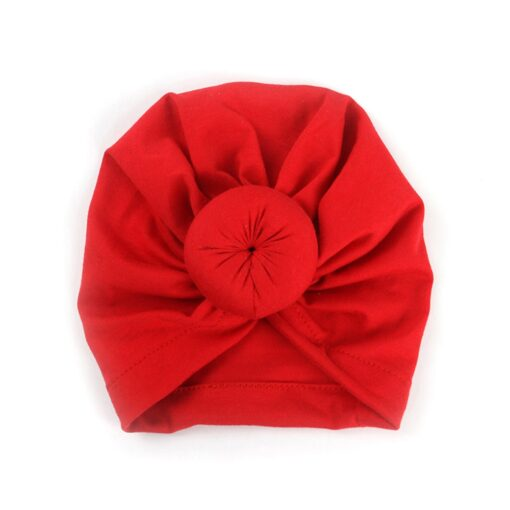 8 Colors Infant Headbands Solid Color Cotton Kont Turban Headwear For Girls Spandx Stretchy Beanie Hat 5