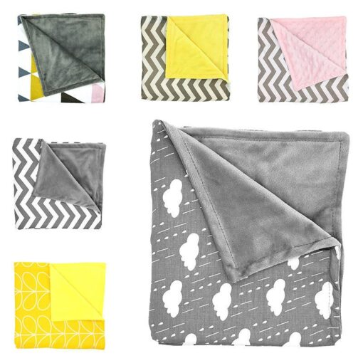 80 75cm Baby Bedding Blankets Kids Sleeping Blanket Soft Striped Blanket Infant Swaddle Nap Receiving Stroller