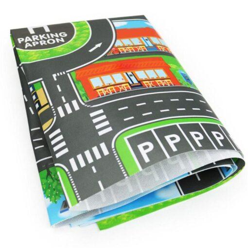 83x58cm Baby Play Mat City Parking Lot Road Signs Roadmap Map Kids Model Cars Climbing Play 4