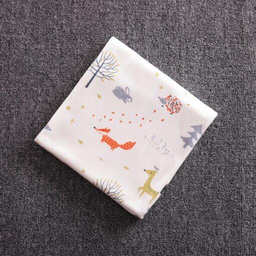 85 85 Muslin Bamboo Cotton Baby Blanket Swaddle Soft Cartoon Animal Print scarf Multifunction Wrap Burp 3