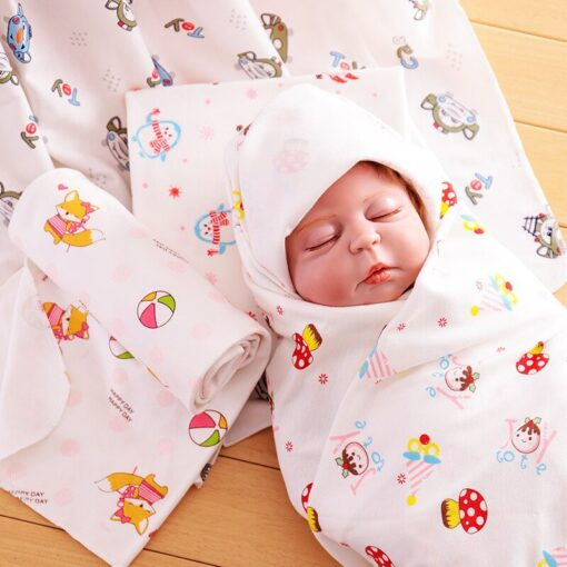 85 85 Muslin Bamboo Cotton Baby Blanket Swaddle Soft Cartoon Animal Print scarf Multifunction Wrap Burp