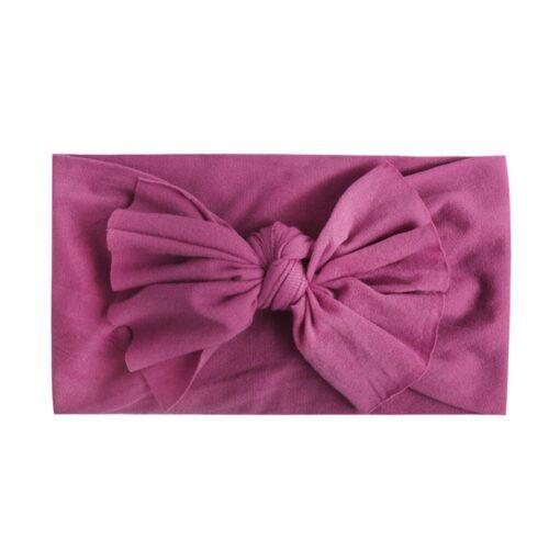8pcs Baby Headbands Flower For Girls Handmade Chiffon Solid Hair Bow Band Baby Hairband Headdress Newborn 1