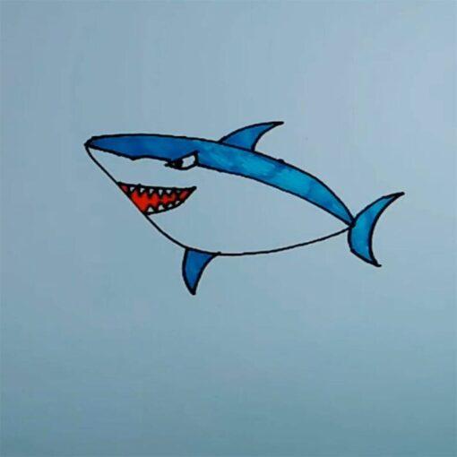 8pcs Baby shark Aquatic creatures Lone raccoon model Action Toy Figures action figure anime figure Best 1