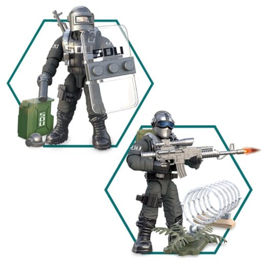 8pcs Military series Action Figures Building Blocks Alpha Force SWAT Army Soldier Kit Model Small Brick 1