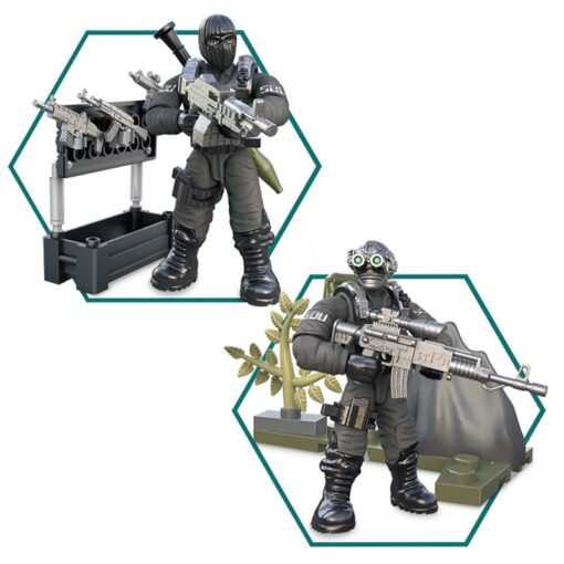 8pcs Military series Action Figures Building Blocks Alpha Force SWAT Army Soldier Kit Model Small Brick 3
