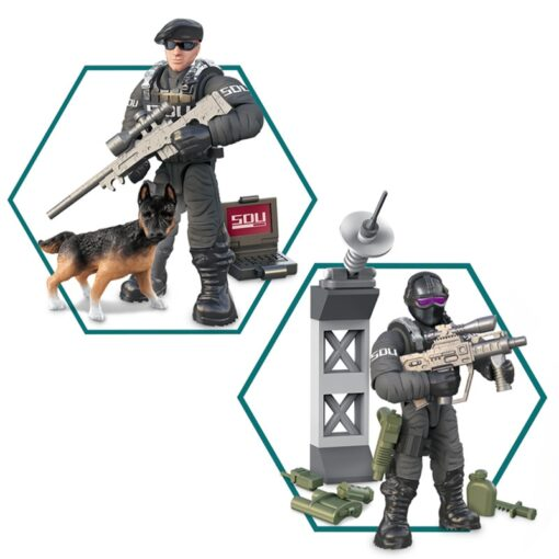 8pcs Military series Action Figures Building Blocks Alpha Force SWAT Army Soldier Kit Model Small Brick 4