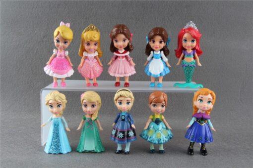 90 New Original 3 Princess Mini Toddler Doll Collection Figure