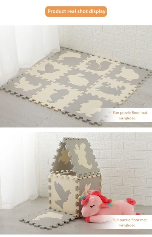 9Pcs Set Baby EVA Foam Puzzle Play Mat Interlocking Exercise Floor Carpet Baby Kids Play Mat 2