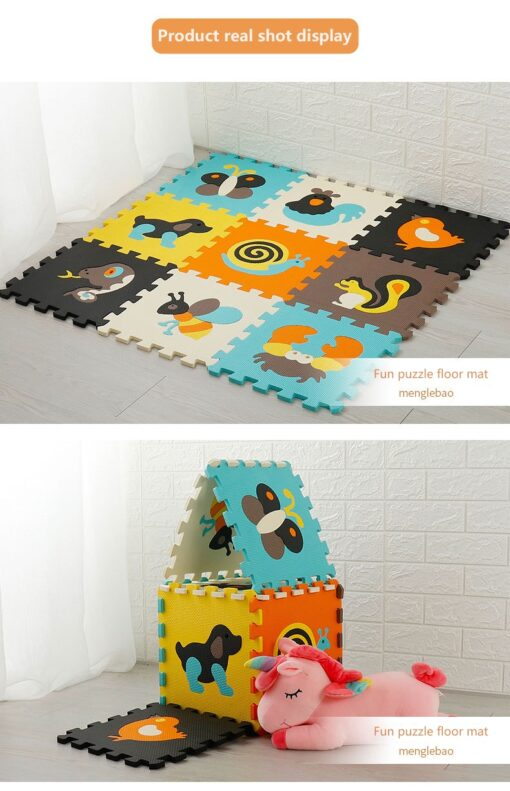 9Pcs Set Baby EVA Foam Puzzle Play Mat Interlocking Exercise Floor Carpet Baby Kids Play Mat 3