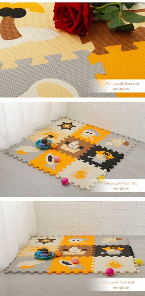 9Pcs Set Baby EVA Foam Puzzle Play Mat Interlocking Exercise Floor Carpet Baby Kids Play Mat 4