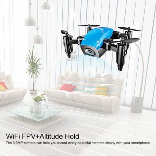 AEOFUN S9HW Mini Drone with HD Camera S9 No Folding Camera RC Quadcopter altitude helicopter WiFi 2