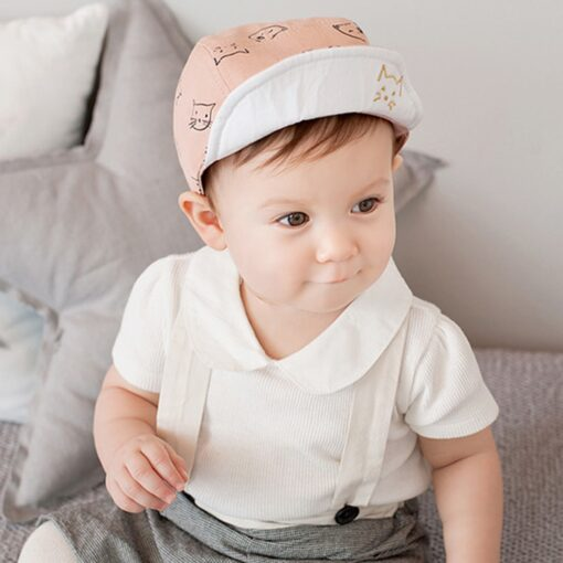 ARLONEET Cap 1pc Fashion Blue Pink Children Summer Soft Hat 45cm Elegant design Cotton baby Kids 4