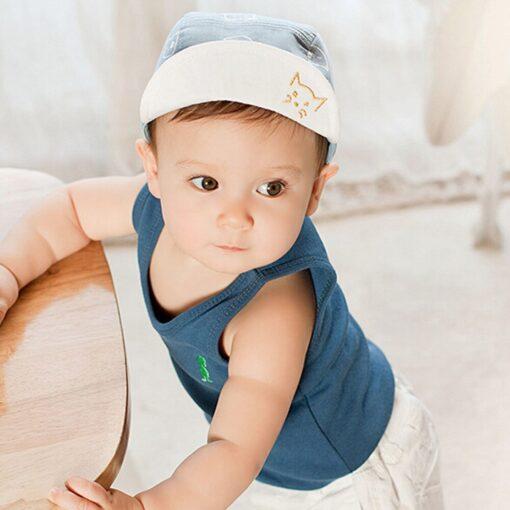 ARLONEET Cap 1pc Fashion Blue Pink Children Summer Soft Hat 45cm Elegant design Cotton baby Kids 5
