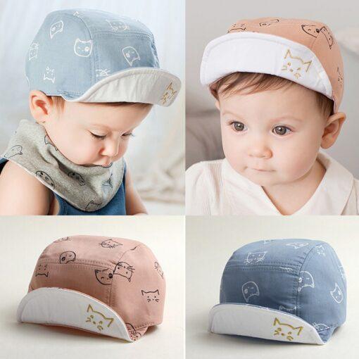 ARLONEET Cap 1pc Fashion Blue Pink Children Summer Soft Hat 45cm Elegant design Cotton baby Kids