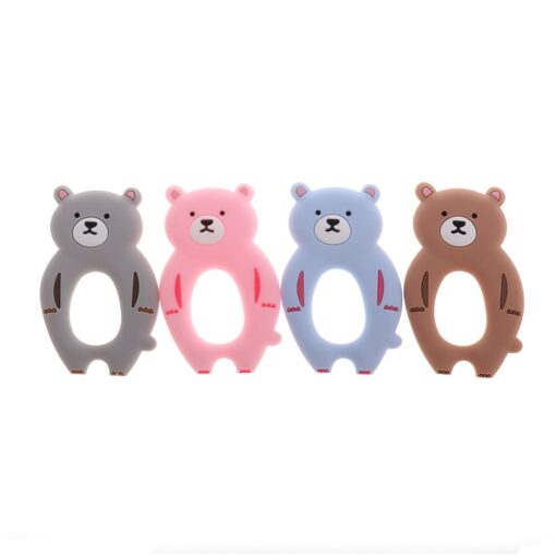 ATOB 1Pc silicone teether unicorn silicon Food Grade Baby Teething Toys bpa free bear safe baby 1