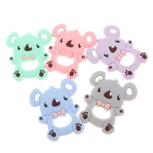 ATOB 1Pc silicone teether unicorn silicon Food Grade Baby Teething Toys bpa free bear safe baby 5