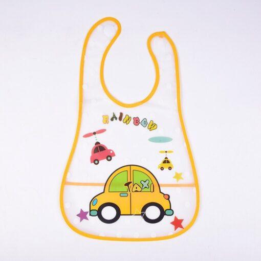 Adjustable Baby Bibs EVA Waterproof Lunch Feeding Bibs Baby Cartoon Feeding Cloth Children Baby Apron Babador 3