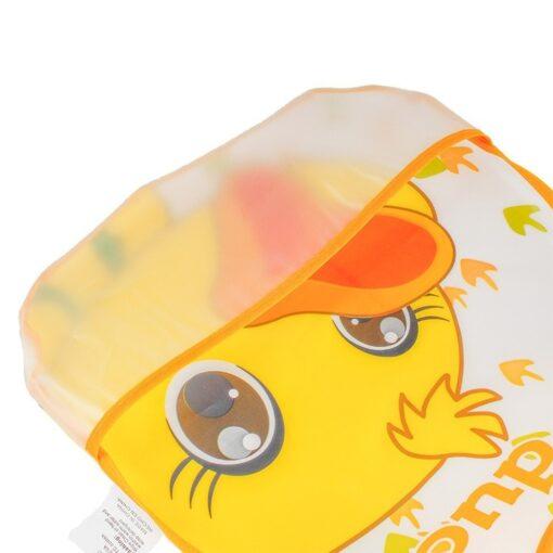 Adjustable Baby Bibs EVA Waterproof Lunch Feeding Bibs Baby Cartoon Feeding Cloth Children Baby Apron Babador 4