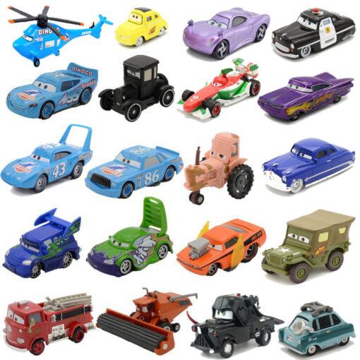 All Disney Pixar Cars 2 Cartoon Figures Lightning McQueen The Kings Dinoco Collection 1 55 Metal