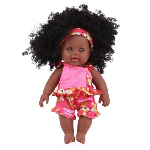American Reborn Black Doll Handmade Silicone Vinyl Baby Soft Lifelike Newborn Baby Doll Toy Girl Christmas 3