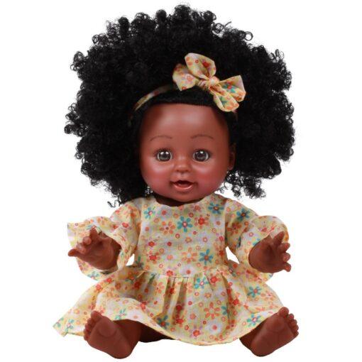 American Reborn Black Doll Handmade Silicone Vinyl Baby Soft Lifelike Newborn Baby Doll Toy Girl Christmas 4
