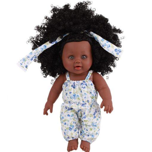 American Reborn Black Doll Handmade Silicone Vinyl Baby Soft Lifelike Newborn Baby Doll Toy Girl Christmas 5