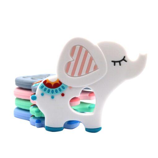 Animal Silicone Teethers Babies Teething Necklace Fox Panda Elephant Toy Food Grade Cartoon Breastfeeding Silicone Small 1