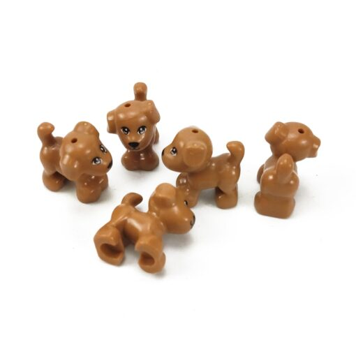 Animals MOC Cute Dogs Cat Wolf Tiger Figures Models Building Blocks Toys for Children Assemble Animals 3