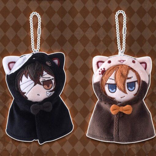Anime Stray Dogs Plush Doll Stuffed Toy Anime PP Cotton Tsumamarekko Dazai Atsushi Ranpo Akutagawa Keychain 5