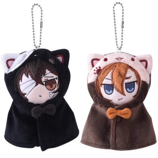 Anime Stray Dogs Plush Doll Stuffed Toy Anime PP Cotton Tsumamarekko Dazai Atsushi Ranpo Akutagawa Keychain