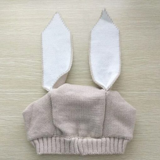 Autumn Winter Toddler Infant Knitted Baby Hat Adorable Soft Rabbit Long Ear Rabbit Hat Baby Bunny 3