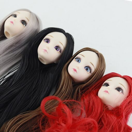 BJD Doll 1 6 30cm 20 Movable Joints 3D Eyes long hair Female Plastic Nude Body 2