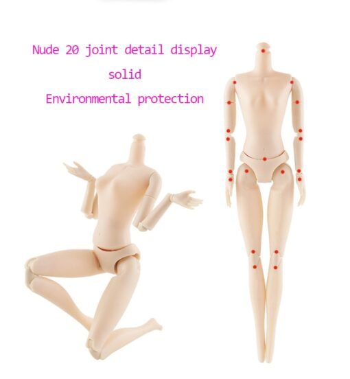 BJD Doll 1 6 30cm 20 Movable Joints 3D Eyes long hair Female Plastic Nude Body 3