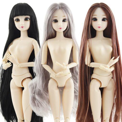 BJD Doll 30cm 20 Movable Jointe Dolls 3D Eyes Bjd Plastic Doll for Girls Toys Long 5