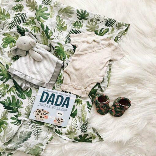 Babies Sleeping Bags Newborn Cotton Swaddle Newborn Infant Baby Floral Swaddle Headband Soft Sleeping Blanket Wrap 2