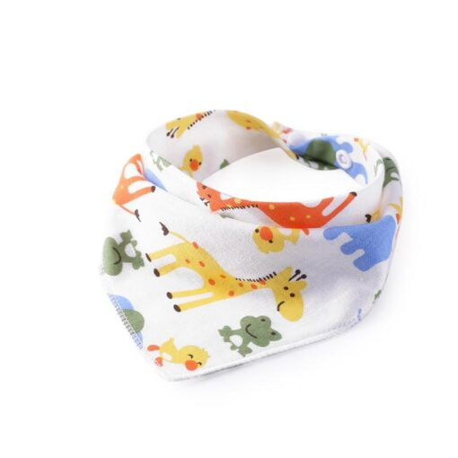 Baby Adjustable Bibs Burp Cloth Reusable Newborn Baby Saliva Towel Washable Triangle Infant Bibs Burp Cartoon 4